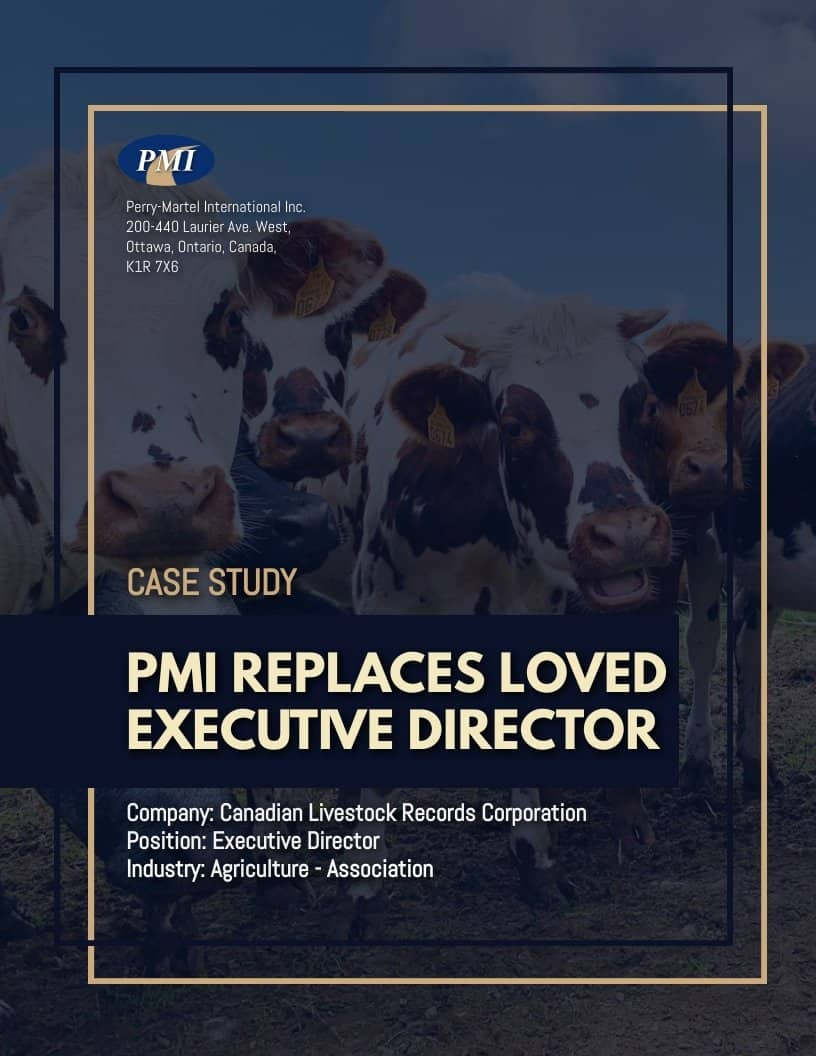 Agriculture - Association Executive Director Case Study Case Interview Cover