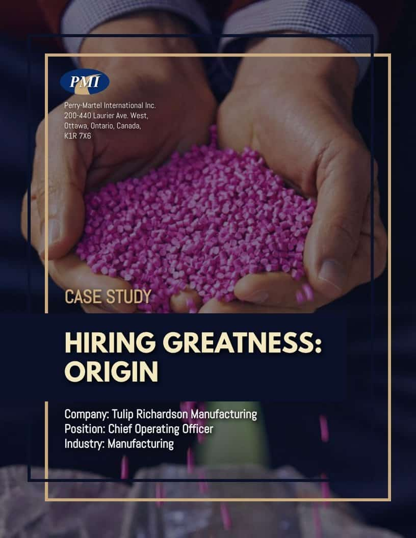 Manufacturing Chief Operating Officer Case Study TRM Cover