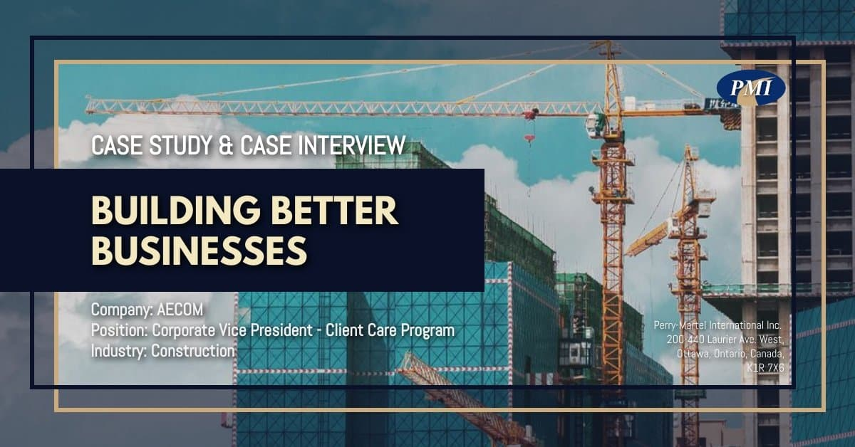 Vice President Client Care - Case Study & Case Interview AECOM 2