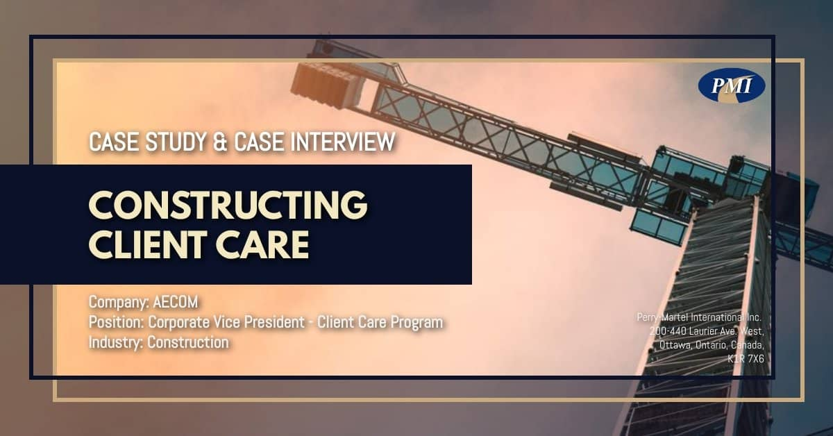Vice President Client Care - Case Study & Case Interview AECOM 1