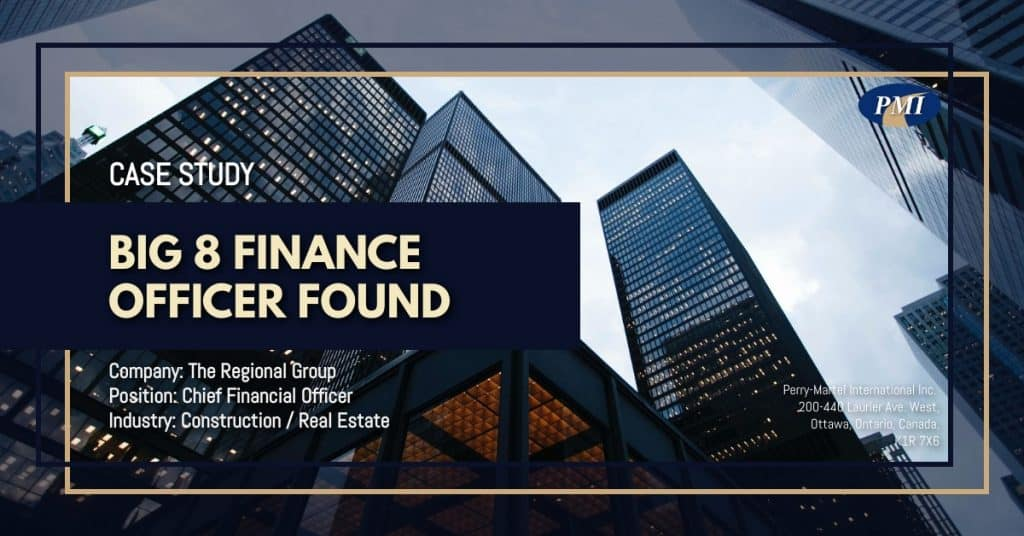 Construction / Real Estate Chief Financial Officer Case Study